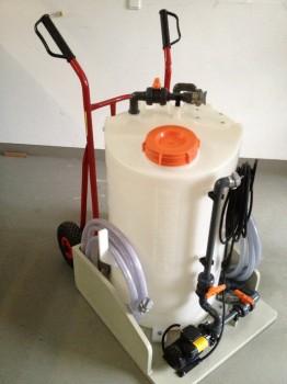 Mobile CIP-Anlage für die Reinigung von UV-Anlagen